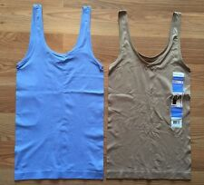 NWT Women's ELLEN TRACY Medium Blue Nude 2 Pc Reversible Tank Top Camisole L