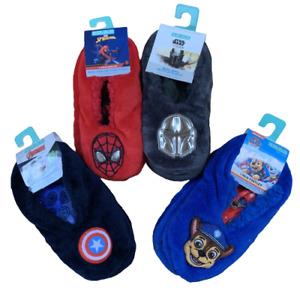 Boys Super Soft Primark Marvel Spider-Man Paw Patrol Slippers Footlet Socks