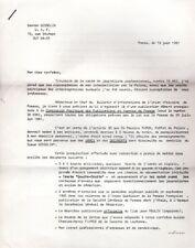 Lettre signée de Gaston Gosselin/journaliste/Perquisition/Police/Algérie/1961