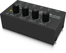 Behringer HA400 Ultra-Compact 4-Channel Stereo Headphone Amplifier Amp -NEW-