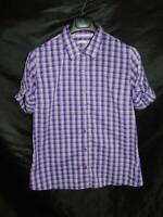 Marmot XL Purple Plaid Shirt Short Sleeve Button Front Womens Travel Camp Top XL