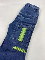 Vintage 90s Grunge Baggy Stripe JNCO Jeans Skate Skater Punk Women's  Sz 16 2209