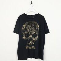 Vintage THE WALKING DEAD Big Graphic T Shirt Tee Black | Large L