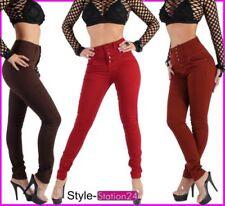 Jeans da donna alti alti multicolore