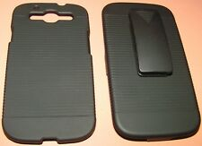 Hard shell case & holster combination for Samsung Galaxy S III, Black, NEW