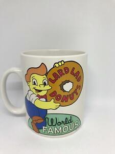 universal studios coffee cup mug the simpsons lard lad donuts world famous new