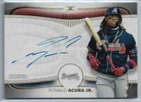 2021 Topps Definitive Collection Ronald Acuna Jr. On-Card Auto #'d 09/35 Braves