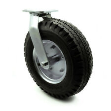 12 Inch Black Pneumatic Wheel Swivel Caster Service Caster Brand