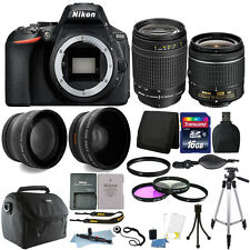 Nikon D5600 24.2 MP D-SLR Camera + 18-55mm + 70-300mm Lens & 16GB Accessory Kit