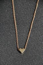 Lovely Gold Effect Heart Pendant Necklace Loveheart Charm Best friend Party Bag
