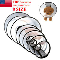 US Pet Dog Cat Protection Cover Cone Neck Collar Anti-Bite Recovery Protective