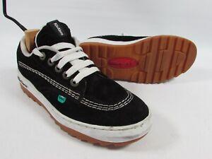 Vintage Kickers Trainers Black Suede Old Skool School Vans Size EU 44 UK 9.5