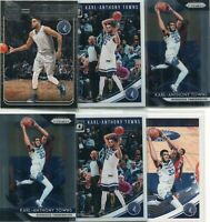 LOT (9) KARL-ANTHONY TOWNS MINNESOTA TIMBERWOLVES - 2018-19 PRIZM OPTIC - 3349