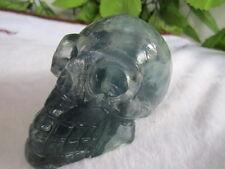 BEST!!! 466g Natural clear fluorite crystal skull sculpture