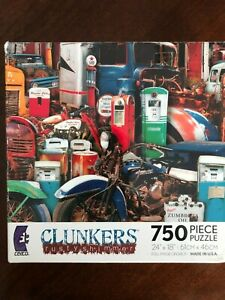 """Rustworthy """"Clunkers"""" Rusty Shimmer by John Roy RARE 750 Piece Puzzle"""