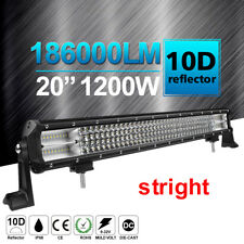 "10D + 20'' Quad ROW 1200W LED Work Light Bar Combo Flood Spot VS 24""23""/22"""