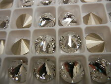 12 rarest swarovski off centered rivoli stones,16mm crystal/foiled #1222