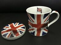 The Leonardo Collection Union Jack Coffee Tea Mug With Lid England