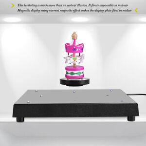 LED Rotating Magnetic Levitation Floating Show Shelf Display Platform Home Decor