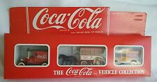 COCA-COLA  DELIVERY VEHICLES COLLECTION HORSE DRAWN WAGON, PANEL TRUCKS NIB