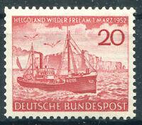 Bund Nr. 152 sauber postfrisch Rückgabe der Insel Helgoland 1952 BRD MNH