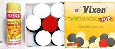 Vixen Carrom Men Top Heavy Duty Plastic Coins Set + Stricker+170gm Carrom Powder