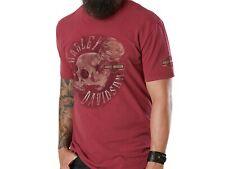 Harley-Davidson Hombre Rojo cráneo adictivo Distribuidor T-Shirt Preston Inglaterra