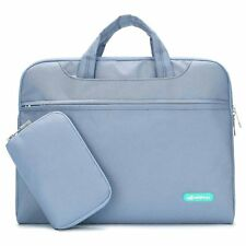 Laptop Slim Shoulder Bag Messenger Bag Water Resistant for 14-15.6 Inch Greyblue