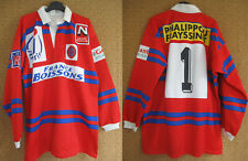 Maillot rugby A.S BEZIERS Porté Match #1 Itineris Jersey Vintage Shirt - XXL