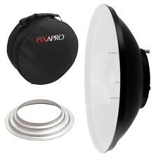 42cm White Beauty Dish with Padded Carry Case (Hensel) Location Studio Rigid Bag