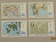 Hong Kong QE II 1984 Maps of Hong Kong set MNH. Superb