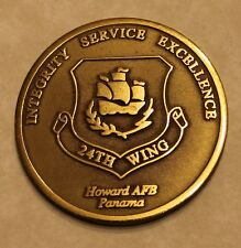 24th Wing Los Profesionales 1999 Deactivation Panama Air Force Challenge Coin