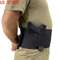 Tactical Abdominal Band Gun Holster Elastic Concealed Ambidextrous Waist Holster