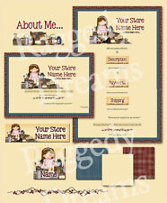Lil' Crafty Girl COMPLETE EBAY STORE DESIGN