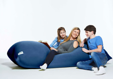 Yogibo Max 6-Feet Giant Bean Bag in Blue - Use as Chair, Recliner, Couch or Bed
