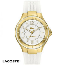 Lacoste 2000756 Acapulco gold white Silicone Women's Watch NEW
