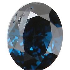 Natural Loose Diamond Oval SI1 Clarity Blue Color 3.20 MM 0.11 Ct KR924