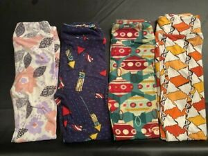BoxNN LuLaRoe Kids Leggings S//M Small Medium New Black W// Yellow Teal Brown