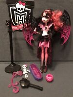 Monster High Draculaura Ghoul's Rule Doll, Dress, Skeleton W/ Bed Wings Complete