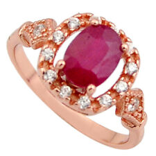 Zirconia14k Gold Ring Size 6 C7773 Handmade 2.92cts Natural Red Ruby Cubic