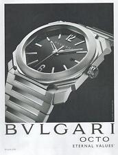 ▬► PUBLICITE ADVERTISING AD Montre watch BVLGARI BULGARI Octo