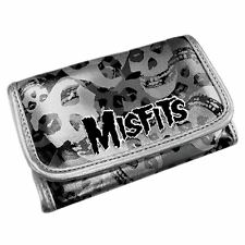 Official Misfits Silver Skull Logo Coin Purse Wallet - Funky Music Rock Gothic