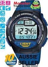 AUSTRALIAN SELLER CASIO GENTS W-734-2AV W734 60 LAP MEMORY 12-MONTH WARRANTY