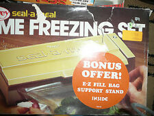 NEW HTF NEW DAZEY SEAL A MEAL HOME FREEZING SET MADE IN USA + BONUS BAGS FIND