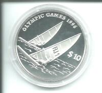 USA Atlanta 1996 Olympiade 10 Dollar Windsurfen Fidschi Inseln 31,47 g Silber PP