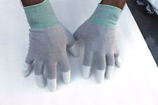 5 pairs ESD Anti-Static and Anti-Skid Gloves-finger Top coated(Size:S, M, L,XL)