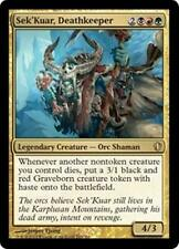SEK'KUAR, DEATHKEEPER Commander 2013 MTG Gold Creature — Orc Shaman RARE