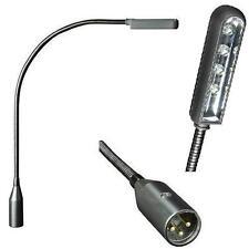 2x Superhelle LED XLR Schwanenhalslampe Minilight Flexilight Mixerlampe SLED1XLR