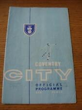 22/10/1963 Coventry City v Shrewsbury Town  (Folded, Creased, Team Changes, Slig