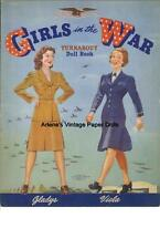 Vintage Uncut Girls In War Paper Dolls Hd~Laser Reproduction~Lo Pr~Hi Qual